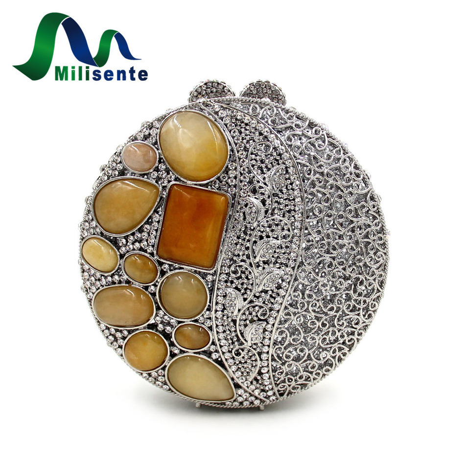 ФОТО New Arrival Women Evening Bag Party Clutch Diamonds Mini Handbag with Chain Gold and Red