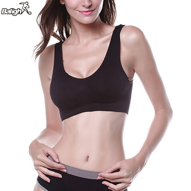d7a2b63ea8a Women Sport Bra Lady Yoga Vest Seamless Fitness Sports Bra Tops Gym Underwear  Bras 3 Colors Sports Bra M L XL-in Sports Bras from Sports   Entertainment  on ...