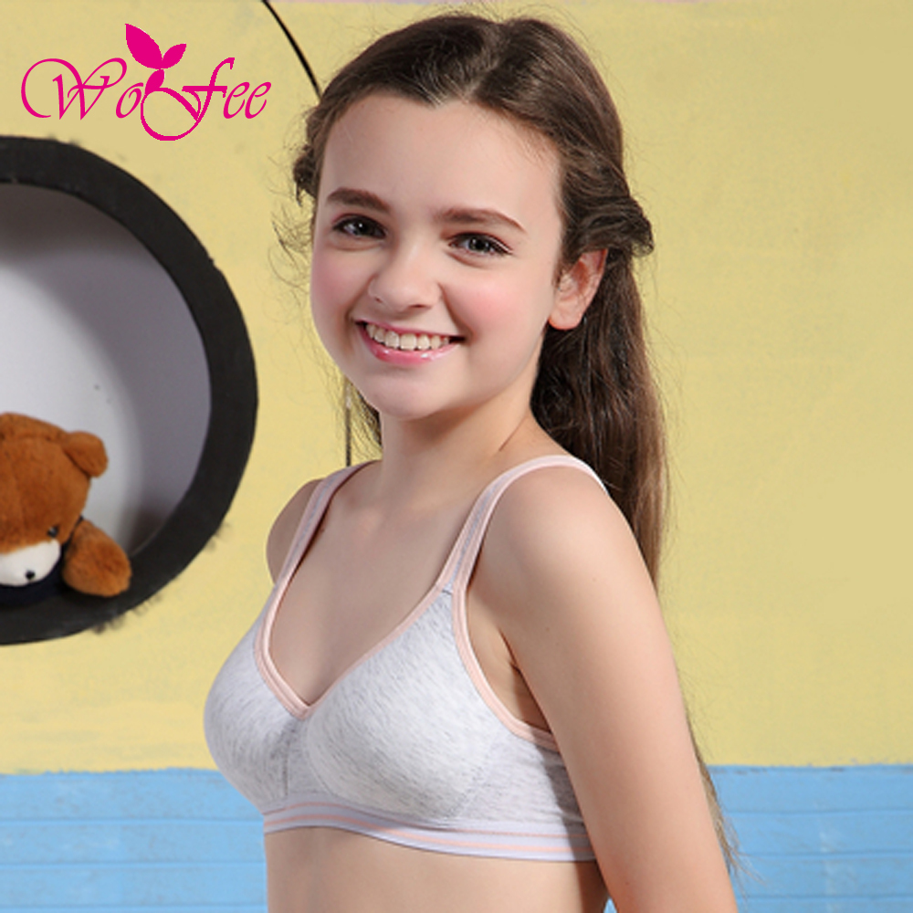 644ce12f214f Tsfit Land Children Underwear 100% Cotton Hasp Wireless Young Girl Bra Small  Vest Design B8860-in Bras from Mother & Kids on Aliexpress.com | Alibaba  Group
