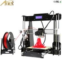 Anet a8 3d печать diy точность высокое качество reprap prusa i3 3d-принтер DIY Kit С НОАК Накаливания 8 ГБ LCD видео