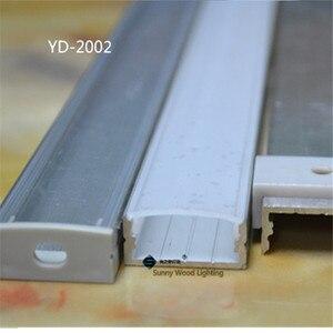 Image 3 - 10 30 יח\חבילה, 2 m/pc אלומיניום פרופיל שורה כפול led הרצועה, חלבי/שקוף כיסוי עבור 20mm pcb, פרופיל עבור גבוהה כוח led