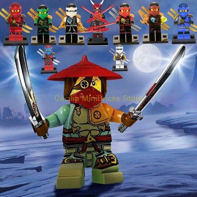 Legoing 70665 Ninja Samurai Mech Blocos Tijolos Compatível Com Legoings Ninjagoed Technic Brinquedos Para As Crianças