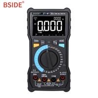 BSIDE True Rms Digital Multimeter ZT M0 ZT M1 3 Line Display Multimetro Capacitance VFC NCV battery Tester Voltmeter Ammeter