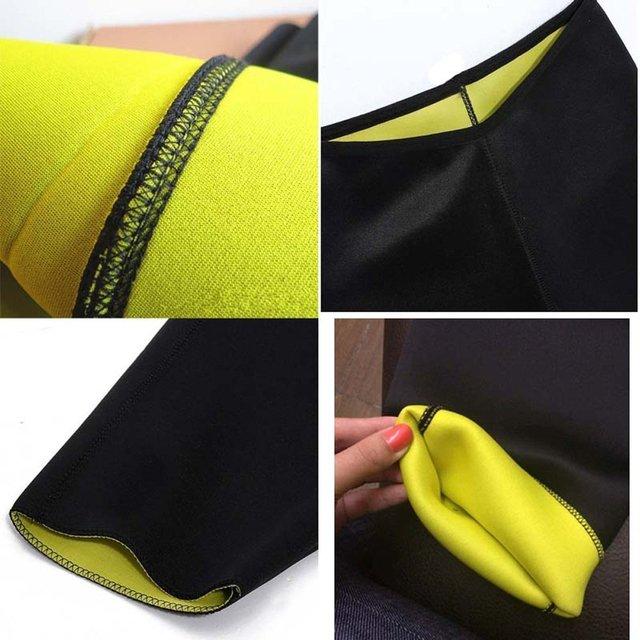 Women's Fitness Sport Shapers Yoga Pants Fit Sweat Gym Body Shaper Pants Slimming Suit for Women Waist Trainer Belt Sportswear 3