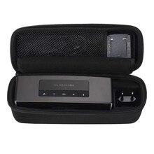 Bolsa de viagem caso duro para bose soundlink mini/mini 2 alto falante sem fio portátil bluetooth se encaixa o carregador de parede, berço de carregamento