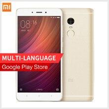 Оригинал Xiaomi Redmi Note 4 MIUI8 смартфон MTK Helio X20 Дека Core CPU 3 ГБ RAM 32 ГБ ROM Примечание 1080 P Отпечатков Пальцев ID мобильного телефона
