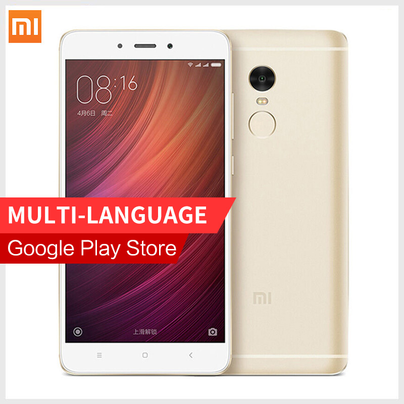 Original Xiaomi Redmi Note 4 MIUI8 smartphone MTK Helio X20 Deca Core CPU 3GB RAM 32GB ROM Note4 1080P Fingerprint ID cellphone