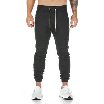 New cotton gym pants men quick dry fit running jogging pants men bodybuilding training sport pants fitness trousers sportswear