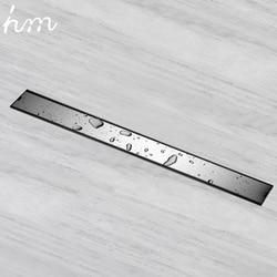 Hm Geur-slip Afvoerputje Cover 60/80/100/120 cm Rechthoek SUS304 Rvs Douche rooster Onzichtbare Lange Afvoerputje