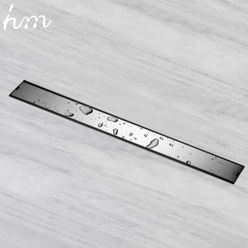 hm Odor resistant Floor Drain Cover 60 /80 /100 /120cm Rectangle SUS304 Stainless Steel Shower Grate Invisible Long Floor Drain