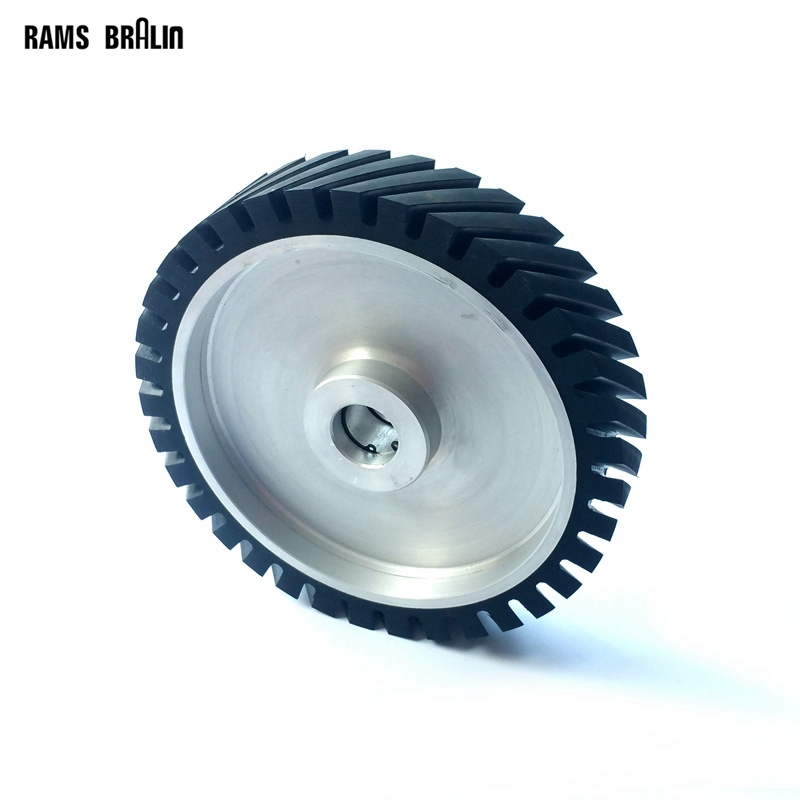 250*50mm Serrated Belt Grinder Rubber Wheel Abrasive Sanding Belt Contact wheel 300 50mm flat belt grinder contact wheel dynamically balanced rubber polishing wheel abrasive sanding belt set