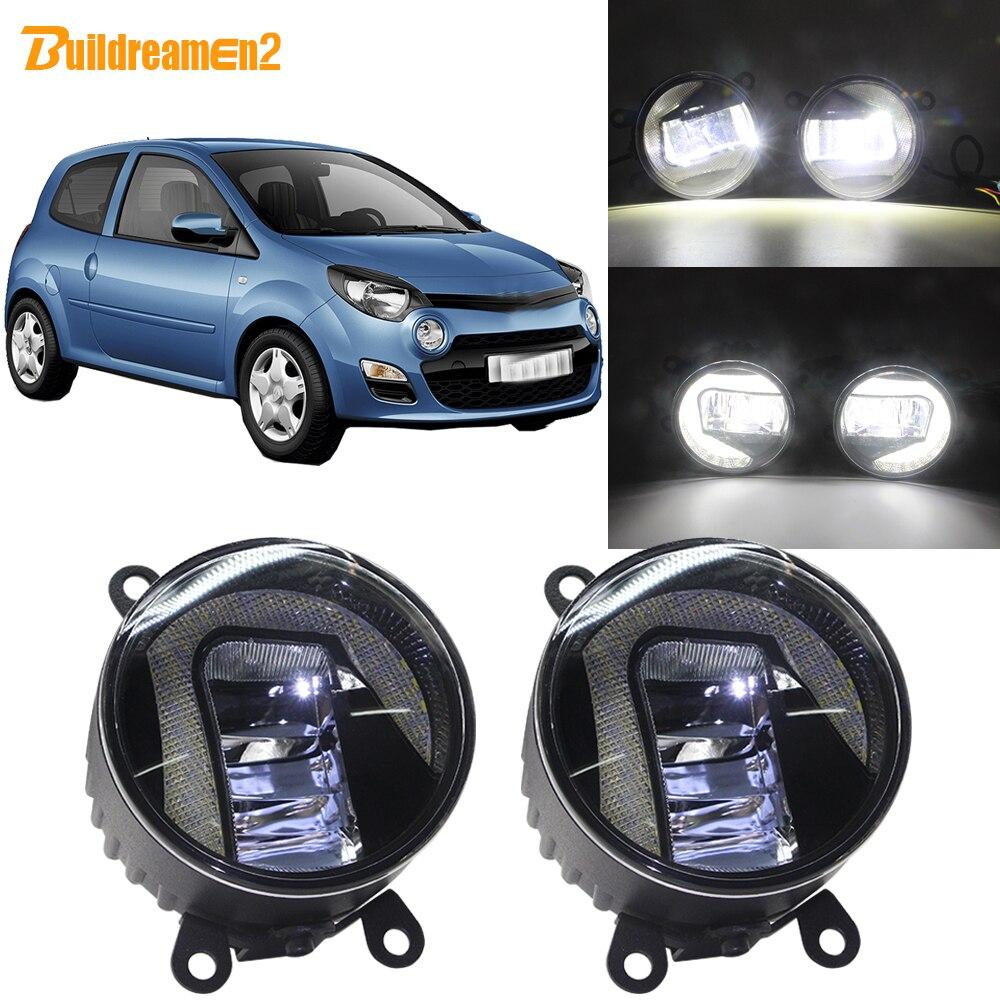 Buildreamen2 For Renault Twingo Hatchback 2007-2015 Car LED Projector External Fog Light + Daytime Running Light DRL 12VBuildreamen2 For Renault Twingo Hatchback 2007-2015 Car LED Projector External Fog Light + Daytime Running Light DRL 12V
