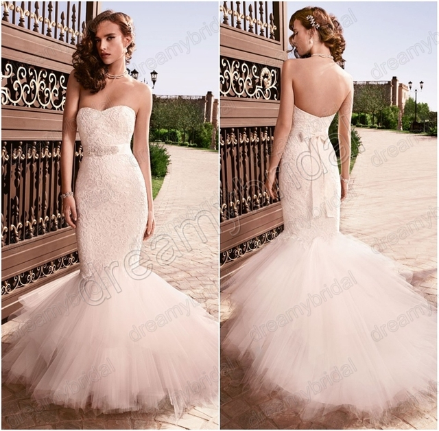 Tulle Fishtail Wedding Dress
