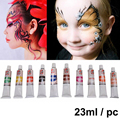 10 Colors Halloween Carnival Face Paint Body Painting Color Oil Painting Art Flash Tattoo Make Up Party Fancy Dress Makeup Tools
