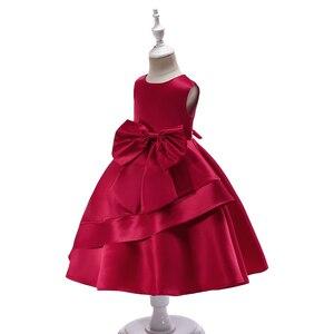 Image 5 - 2018 ורוד בנות נסיכת ילדי שמלת ערב בגדי קיד פורמליות מסיבת חתונת תחרות שמלות בנות לנשף שמלת 7 8 9 שנה