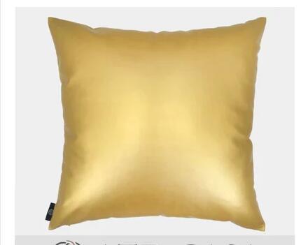 Современные minimalistc Диван Бросьте наволочку декоративные золотые искусственная кожа наволочка наволочки indoor