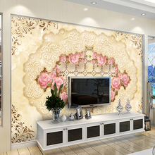 High quality 3D photo wall mural Art Wall living room textile wallpaper Home improvement flower arch bridge porch paper wall