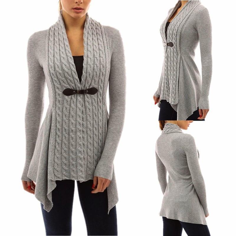 YSMARKET Fashion Hot Ladies Cardigans Slim V Neck Long Sleeve ...