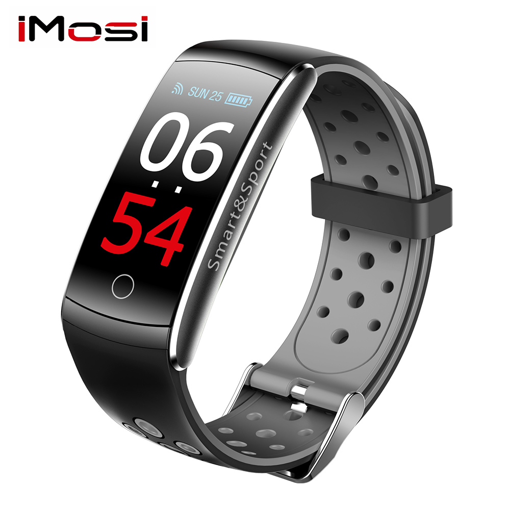 2019 Women Q8S Smart Band Heart Rate Monitor Waterproof Smart Bracelet Fitness Tracker Blood Pressure Smart Watch VS mi band 4 image