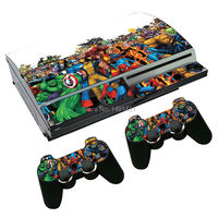 OSTSTICKER Game Decal Skin Stickers For Playstation 3 Console + 2 Pcs Stickers For PS3 Controller