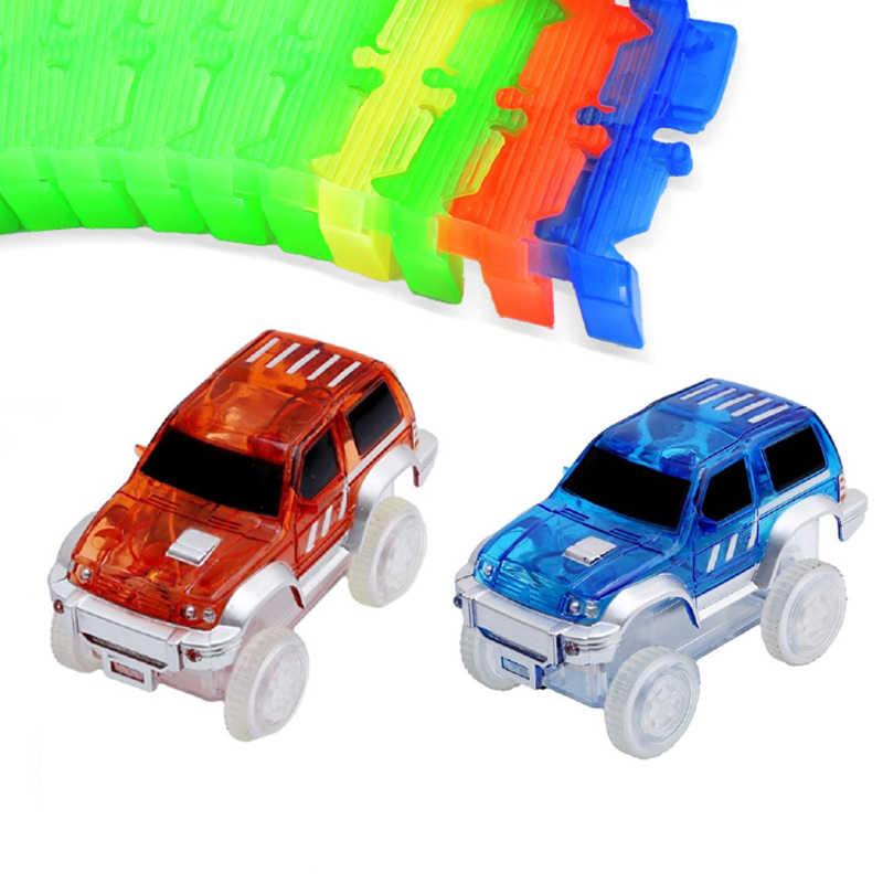 KACUU Magical Track มหัศจรรย์ Glowing Race DIY Universal อุปกรณ์เสริม Ramp Turn แผนที่สะพาน Crossroads ของเล่นเด็ก