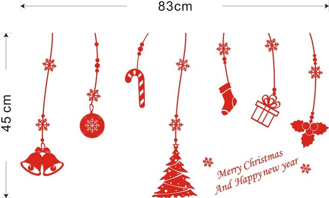 Merry Xmas Decal Christmas Decorations Window Stickers New Year Party Gift Tree Snow Wall Decal sticker