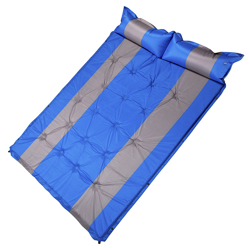 2 person automatic inflatable cushion self inflating mattress hiking travel moisture proof beach pad Indoor outdoor camping pad hewolf outdoor 2 person automatic inflatable mattress cushion picnic mat inflating hiking camping travel beach moisture pad