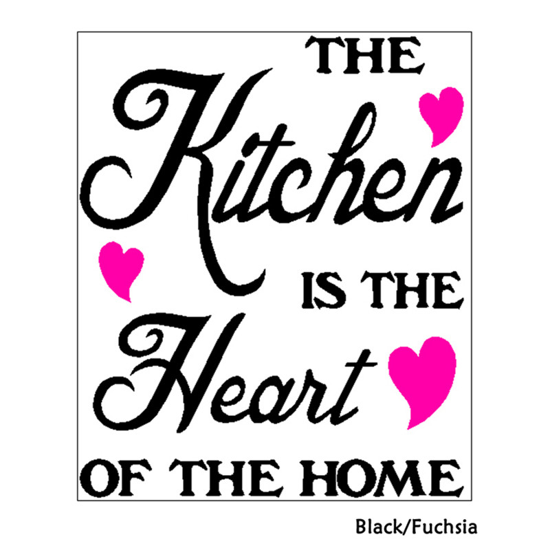 The Kitchen Is The Heart Of The Home. Kitchen Heart Home Removable Wall  Sticker Letter