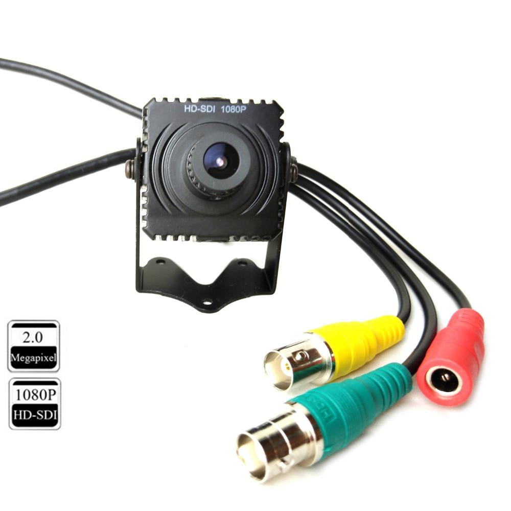 CCTV 2MP Full HD 1080P Digital SDI Security Camera Mini Box with 3.6mm Lens OSD Menu Metal Case hd sdi miniature headset bullet camera 1920x1080 30fps