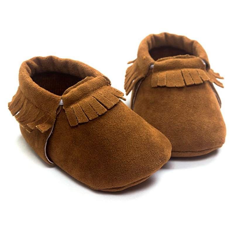 Newborn Baby Boy Girl PU Suede Leather Footwear Baby Moccasins Soft Moccs Shoes Bebe Fringe Soft Soled Non-slip Crib Shoes
