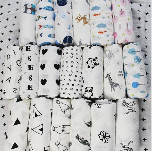 07946c2e1a0 120 120cm Muslin Baby Swaddling Blanket Newborn Infant Pure Cotton Swaddle  Bath Towel Baby Boy Girl Gauze Wrap Swaddleme Manta