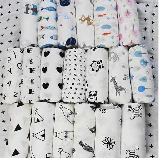 Manta envolvente de muselina para bebé de 120x120 cm, de algodón puro Toalla de baño para recién nacido, Manta envolvente de gasa para bebé y Niña
