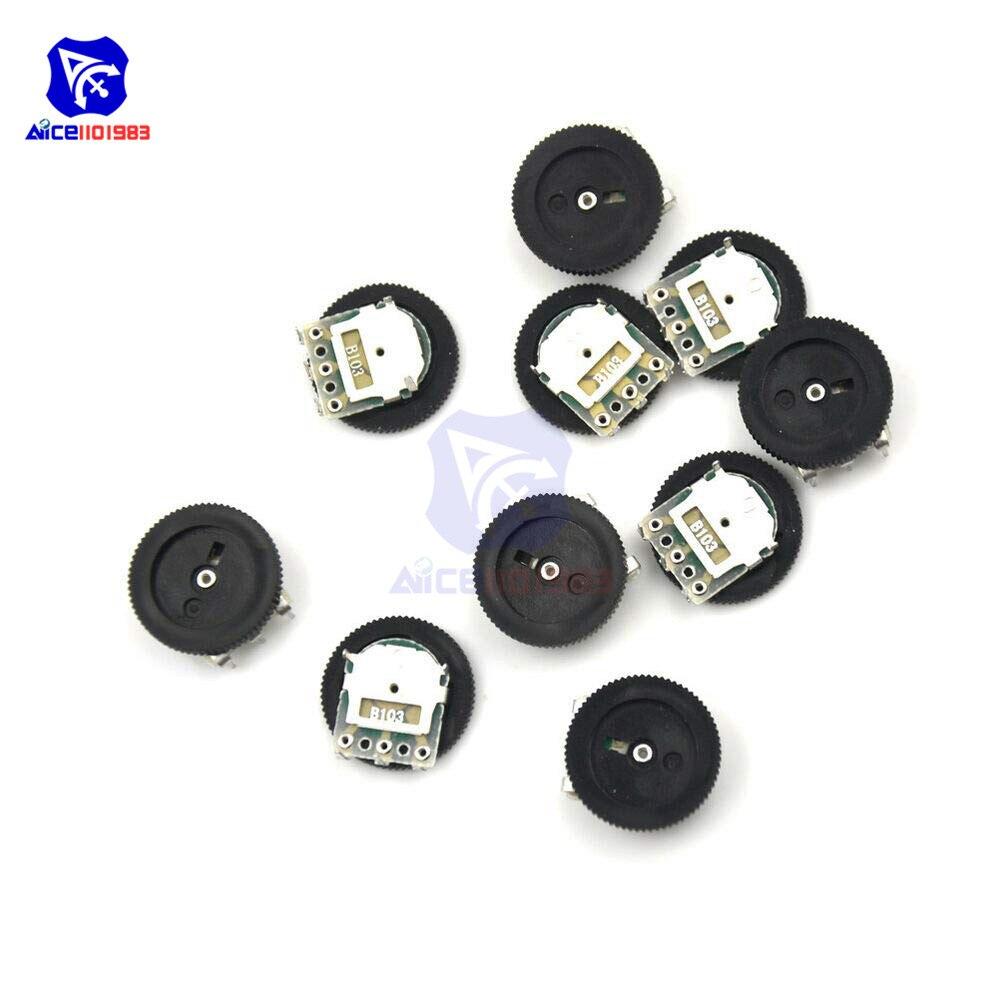 10PCS B103 16x2mm 10K Ohm Single Dial Taper Volume Wheel Single Potentiometer/_fq