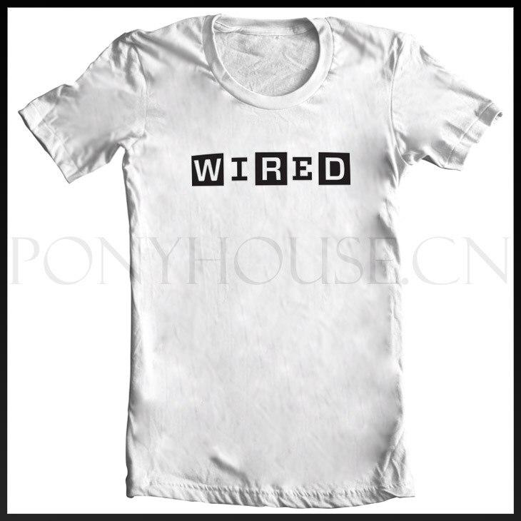 NERD GEEK technology house Wired Magazine WIRED T shirt cotton Lycra ...