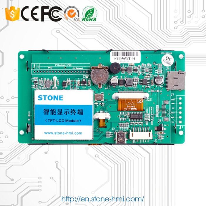 Monitor LCD de 5 pulgadas con pantalla táctil resistiva y placa PCB - 2