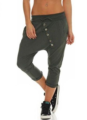 Women's Fashion Chino Boyfriend Girlfriend Hipsters Harem Pants Bloomers Baggy Pants Trousers S-5XL