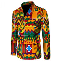 Fancy Blazer African Men Clothing Long Sleeve Coat African Print Slim Fit Suit Blazer Male Men Bazin Riche Overcoat Tops WYN190