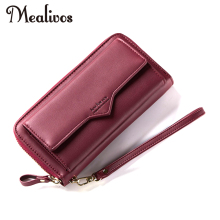 Mealivos Coin Purse PU Leather Women Wallet Purse Wallet Female Card Holder Long Lady Clutch purse Carteira Feminina hot sale women lady long wallets purse female candy color bow pu leather carteira feminina for coin card clutch bag