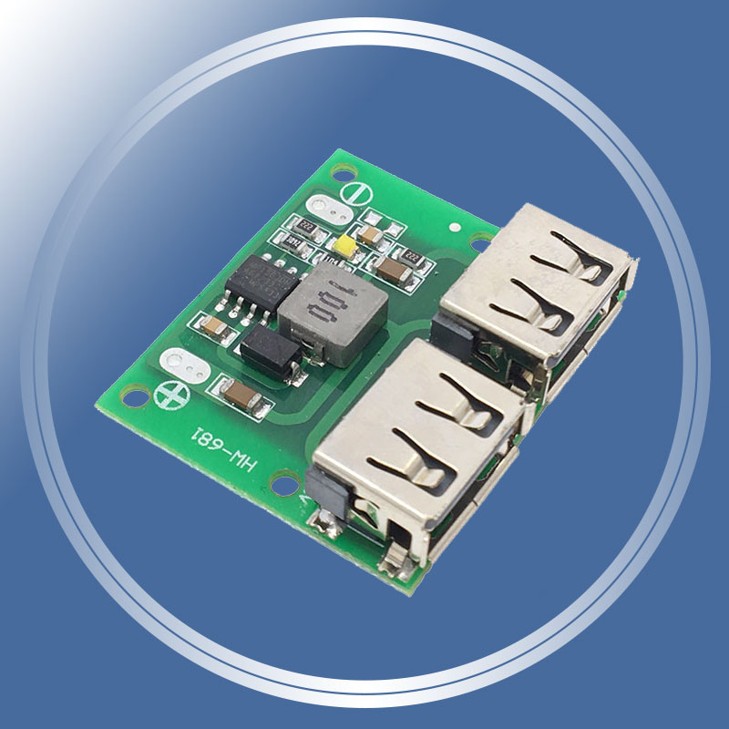 9V 12V 24V to 5V DC-DC Step Down Charger Power Module Dual USB Output 3A 1Psc