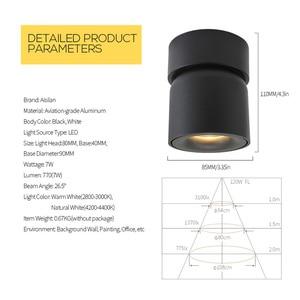Image 5 - Aisilan Led צמודי תקרת Dimmable Downlight מתכוונן 90 מעלות ספוט אור עבור מבואה מקורה, סלון AC 90 260V