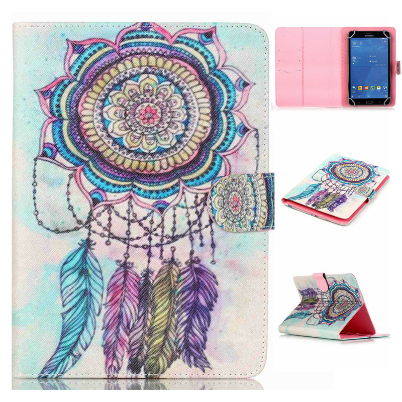 Fashion style PU Leather Stand Cover Case For Oysters T72X 3G 7 inch Universal Tablet Cases with card slots S4A67D