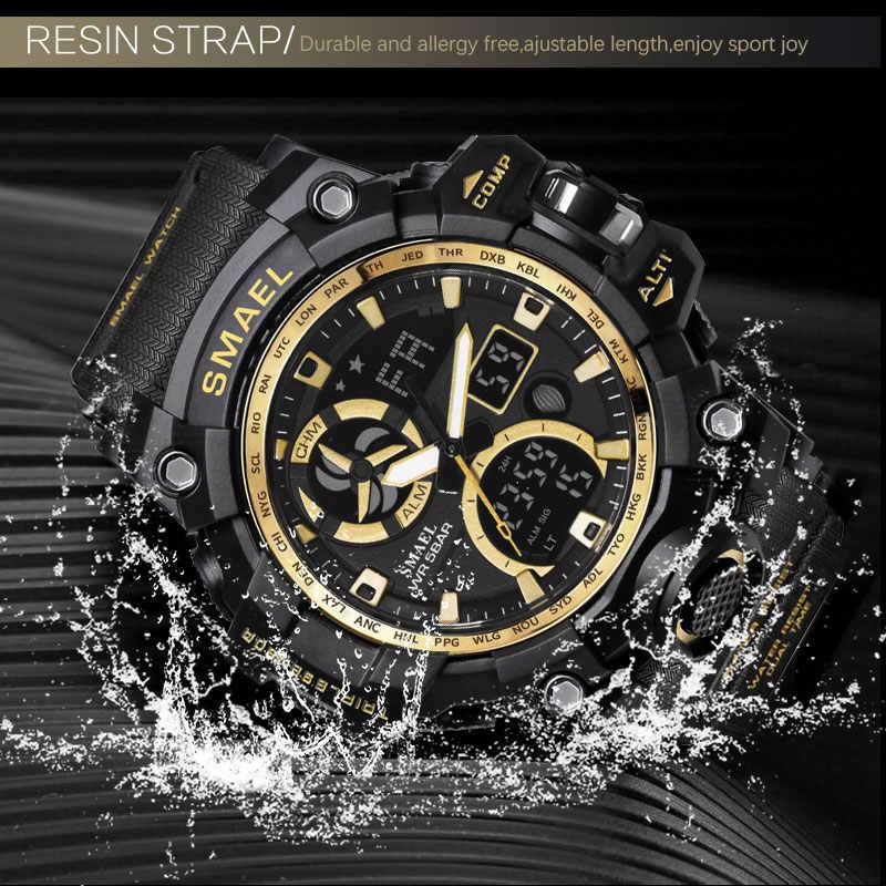 الجيش الساعات العلامة التجارية الخلفية الرقمية Relogio Masculino ساعة الرجال العسكرية LED ساعات المعصم 1545C العسكرية ساعة الرجال مقاوم للماء