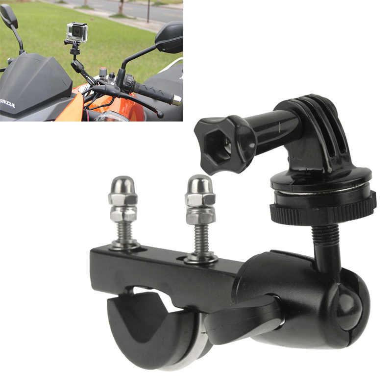 Мотоцикл фиксатор для крепления на руль мотоцикла для спортивной экшн-камеры Go pro GoPro Hero 7 6 5 4 3 + SJCAM eken H9 спортивной экшн-камеры Xiaomi Yi 4 k экшн Камера DV рельсовый Штатив Держатель