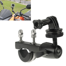 Suporte de guidão para motocicleta, suporte para go pro gopro hero 8 7 6 5 4 3 sjcam eken h9 xiaomi yi suporte de tripé da câmera de ação dv 4k