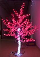 Comparar Envío Gratis 5 pies LED Navidad Año Nuevo cristal claro Árbol de flor de cereza con hojas rojas al aire libre