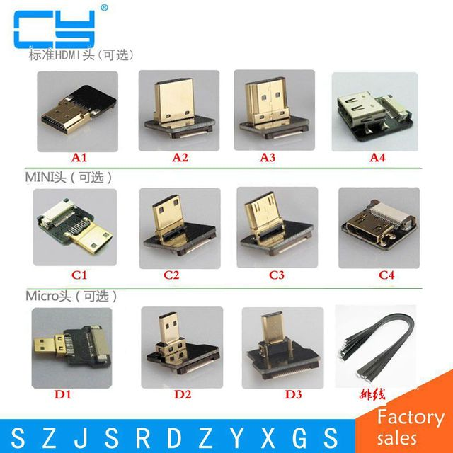 Best Offers FPV Micro HDMI Mini HDMI 90 degree Adapter 5cm-100cm FPC Ribbon Flat HDMI Cable Pitch 20pin for Multicopter Aerial Photography