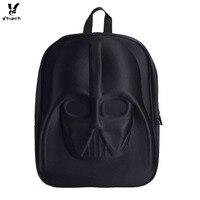 Vbiger 3D Star Wars Backpack Darth Vader Helmet Shaped School Bag Stylish Daypack Special Design High