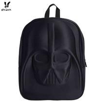 Фотография Vbiger 3D Star Wars Backpack Darth Vader Helmet Shaped School Bag Stylish Daypack Special Design High Quality Men