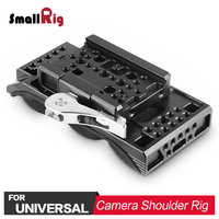 SmallRig Camera Video Shooting Universal Shoulder Pad with Drop In Baseplate (Manfrotto) for Sony FS7, Ursa Mini Camcorder 2078