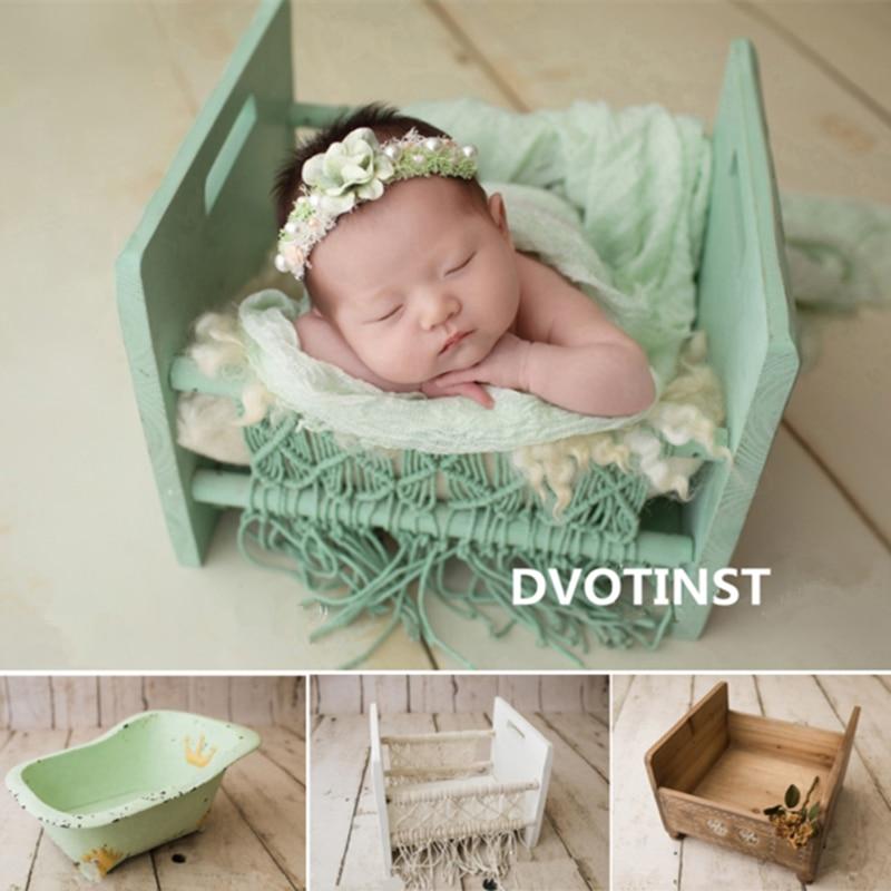 Dvotinst nouveau-né photographie accessoires bébé rétro posant lit panier baignoire berceaux Fotografia accessoires Studio pousses Photo Prop